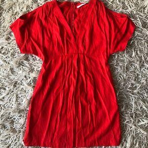 Lush Red Cold Shoulder Dress